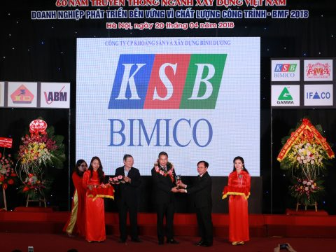 """KSB BIMICO tham dự Diễn đàn Doanh nghiệp Vật liệu xây dựng BMF 2018 với chủ đề """"60 năm ngành VLXD phát triển bền vững vì chất lượng công trình"""""""